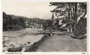 Denbighshire; Llangollen, River Dee, 69720 RP PPC By Photochrom, 1954 PMK