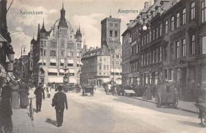 Denmark Kobenhavn Copenhague Amagertorv animated scene 1908