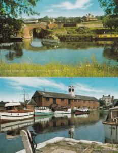 Canal Basin & Entrance Stourport Worcester 2x 1970s Postcard s