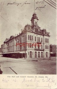pre-1907 CITY HALL AND COUNCIL CHAMBER, ST. JOSEPH, MO. 1906