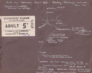 Queensferry Passage Lockerbie Edinburgh Map Travel Ticket 1953 & Photo s