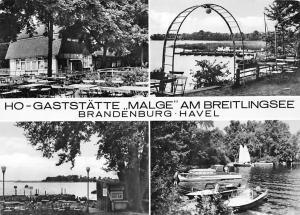 HO-Gaststaette Malge am Breitlingsee Brandenburg Havel Lake Boats bateaux