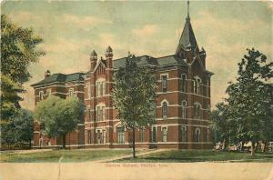 Harlan Iowa~Central School~1910 Postcard