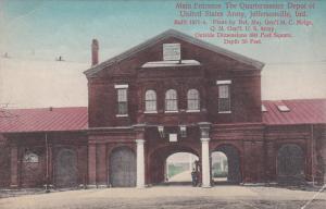 JEFFERSONVILLE, Indiana, 1900-1910s; Main Entrance, The Quartermaster Depot