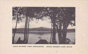 Maine Great Embden Lake Camp Kumsumore Calm Waters Albertype