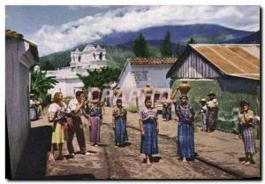 Old Postcard Pan American World Airways Guatemala Women Folklore