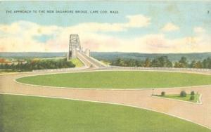 The Approach to the New Sagamore Bridge, Cape Cod, Mass o...