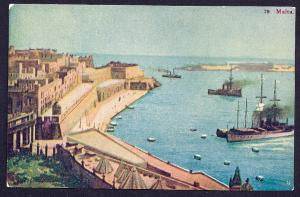 Harbor Scene Malta unused c1910's