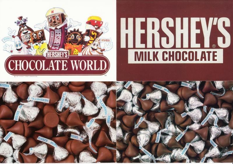 Hershey's Chocolate Lot of 8 Advertising Postcards 1980s-1990s