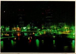 Florida Tampa Skyline At Night