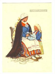 Native woman of Estonia, 1960 ; TARTUMAA