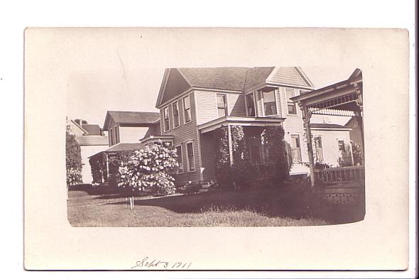Real Photo, Houses on Residential  Street,  Dated Sept 3, 1911