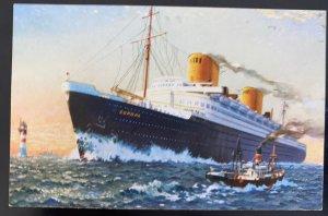 Mint Germany Picture Postcard PPC Lloyd Bremen SS Europa Catapult Ship