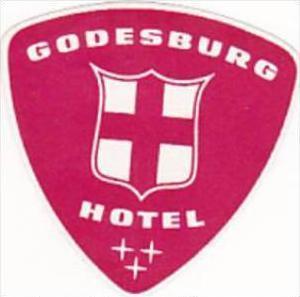 GERMANY GODESBURG HOTEL GODESBURG VINTAGE LUGGAGE LABEL