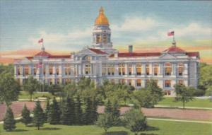 Wyoming Cheyenne State Capitol Building Curteich