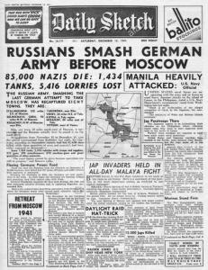 Daily Sketch 1941 Russia Military WW2 Fascimile Newspaper