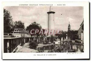 Old Postcard Exposition Coloniale Internationale Paris Pavillon de la Guadeloupe
