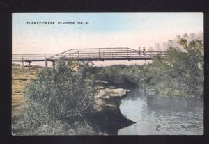 OLUSTER OKLAHOMA TURKEY CREEK BRIDGE ANTIQUE VINTAGE POSTCARD OKLA.