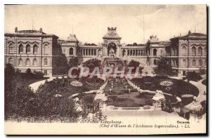 Old Postcard Set Marseille Longchamp leader Ceuvre Palace Architect Esperandieu