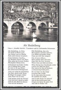 Germany, Heidelberg - Viktor Scheffel Poem - [FG-126]