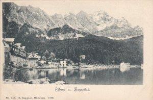 ZUGSPITZE, Bavaria, Germany, 1900-1910s; Eibsee M. Zugspitze
