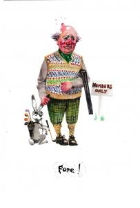 Postcard comic FORE! Lincolnshire Poacher Series No. 5 unposted