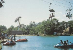 Pleasurewood Hills Lowestoft Suffolk Tempest Theme Ride Postcard