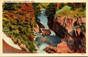 Connecticut Norwich Yantic Falls The Gorge 1939