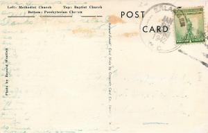 Lamberton North Carolina~3 Churches: Methodist, Baptist, Presbyterian~1940s B&W