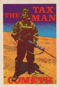 The Tax Man Is Coming Cometh Inland Revenue Comic Postcard