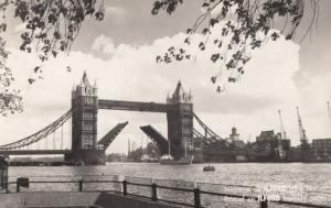 Ilford Negative Test Print Tower Bridge Real Photo Unique Postcard