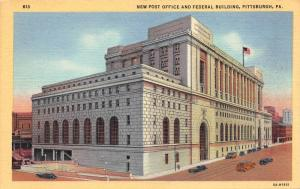 New Post Office and Federal Building, Pittsburgh, PA, Early Postcard, Unused