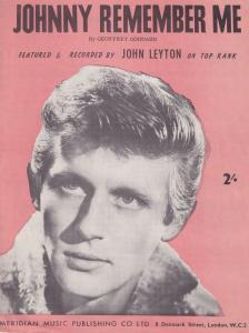 Johnny Leyton Remember Me 1960s Sheet Music
