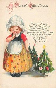 LP66   Ellen Clapsaddle Signed Artist  Christmas Holiday Vintage Postcard