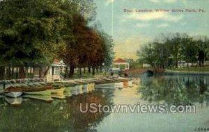 Boat Landing - Willow Grove Park, Pennsylvania