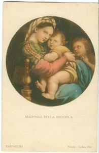 Madonna della Seggiola,1930s used Postcard