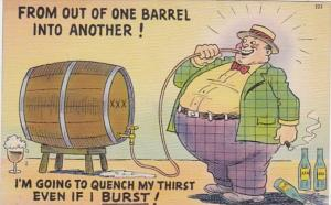 Drinking Humour From Out Of One Barrel Into Another