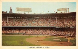 LP97 Cleveland Baseball Ohio Postcard Cleve Indians Municipal Stadium sports
