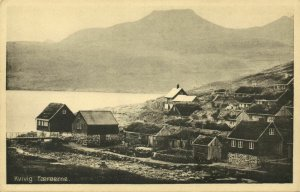 denmark, Faroe Islands, KVIVIG KVÍVÍK, Partial View (1930s) Postcard