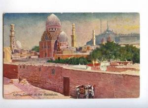 233018 EGYPT CAIRO Tombs of Mameluks Vintage postcard