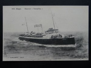 Shipping French Ferry Steamer VERSAILLES Dieppe c1905 Postcard