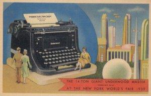 1939 New York World's Fair , 14-Ton Underwood Master Typewriter