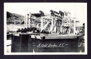 A Gold Dredge - Y.T. - Yukon Territory - Gowen Sutton RPPC real photo postcard
