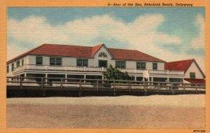 Rehoboth Beach Delaware Star Of The Sea Linen Vintage Postcard