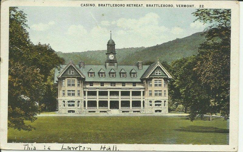 Brattleboro, Vermont, Brattleboro Retreat, Casino
