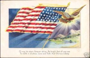 United States, U.S. National FLAG (1918) Embossed