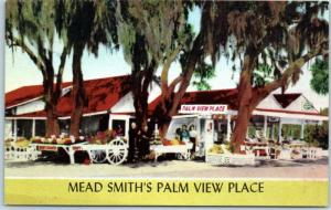 Palmetto, Florida Postcard MEAD SMITH'S PALM VIEW PLACE Highway 41 Linen 1950s