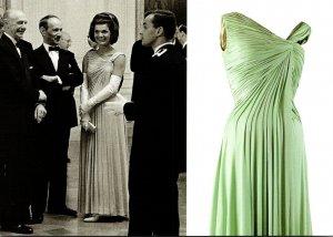 Jacqueline Kennedy White House Dinner Honoring Nobel Prize Winners 29 April 1962