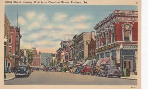 Pennsylvania Bradford Main Street Looking West From Chestnut Street 1944 sk1711