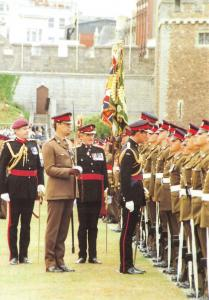 Postcard Royal Regiment of Wales Tercentenary Parade Cardiff Castle 1989 PH1-2